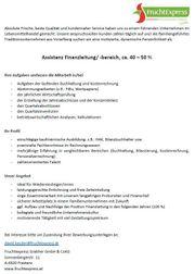 Assistenz Finanzleitung -bereich ca 40 -