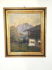 Gemälde F Eichheim Haus in