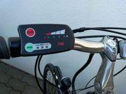 E-Bike ALU-Rahmen silberfarbig leichter AKKU