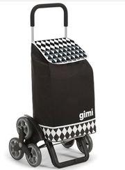 Gimi Tris Optical Einkaufstrolley schwarz