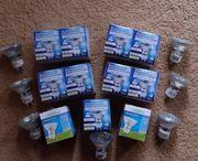 18x Halogen- Lampen für GU