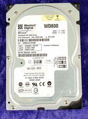 Festplatte WD800 Caviar 80gb mit