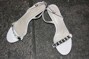 Sandalen Sandaletten in weiß mit