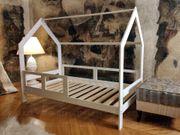 Hausbett Milos mit barrieren weiße