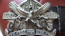 Harley Dvidson Gürtelschnalle mit Adler