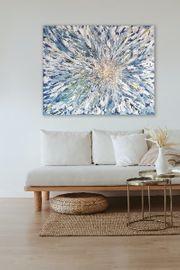 Modern abstraktes Acrybild auf Leinwand