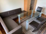 Esszimmertisch Glastisch 160 x 90cm