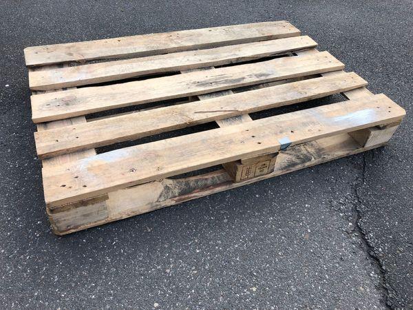 1x Holz Palette EU-Palette 120x80x15cm