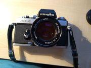 Minolta Spiegelreflexkamera mit Objektiv