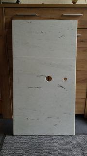 Marmorplatte m Ausschnitten f Waschbecken