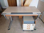 moll Schreibtische höhenverstellbar mit Rollcontainer