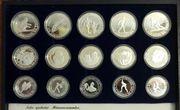 15 Silbermünzen olympische Winterspiele 1984