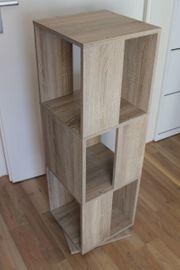 Akten Turm helles Holz drehbar