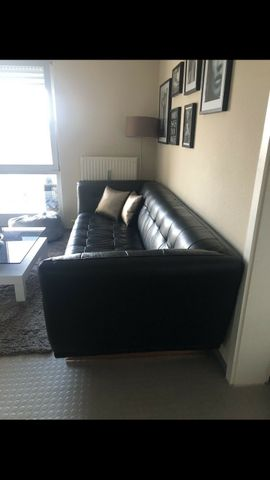 hochwertiges Ledersofa in schwarz: Kleinanzeigen aus Leingarten - Rubrik Polster, Sessel, Couch