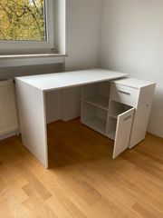 Weiß Eckschreibtisch Arbeitstisch Winkelkombination Schreibtisch