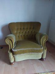 Antik rustikal Antiquität Sessel barock