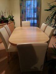 Esszimmertisch und 6 Stühle