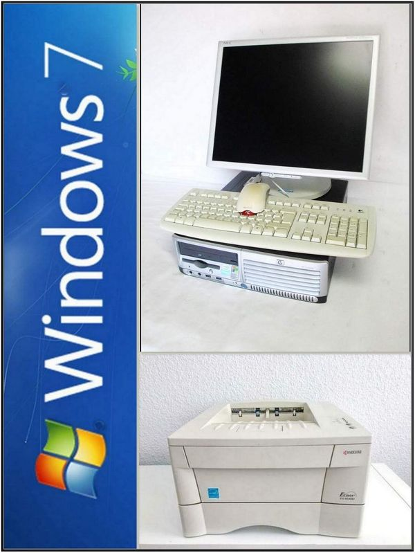 PC Komplettsystem mit Drucker Laserdrucker