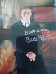 Bill Gates Autogrammkarte Versandkostenfrei