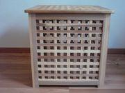 Holzhocker Beistelltisch aus Akazienholz