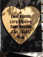 DIY Herz Holz Betondeko Schild