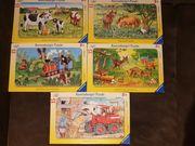 5 Ravensburger Puzzle 15 Teile