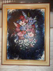 Gemälde Stillleben Blumenstrauß