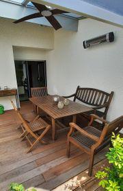 Gartenmöbel Set Teak Holz massiv