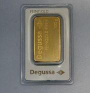Goldbarren 100g Degussa mit Zertifikat
