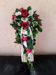 NEU Brautstrauss aus Seidenrosen und