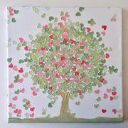 Liebesbaum Gemälde Leinwandbild Herz Baum