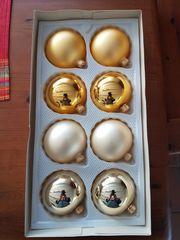 Weihnachtskugeln gold neu