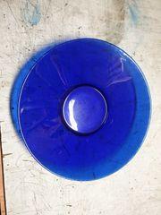Glas Schüssel blau
