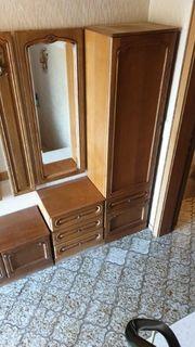 Garderobe Schrank Holz massiv