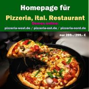 Homepage Webseite Pizzeria Restaurant