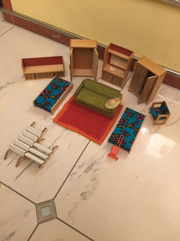 Puppenhaus 80x50x60 cm mit Einrichtung