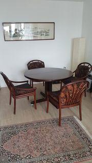 Esstisch rund Mahagoni ausziehbar mit