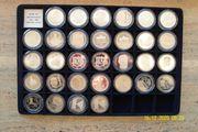 10 DM Gedenkmünzen 1987 - 1996