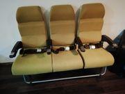 Original 3er Flugzeugsitze mit Tischen