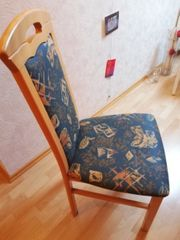 2 ECHTHOLZ Buche Esszimmer Stühle