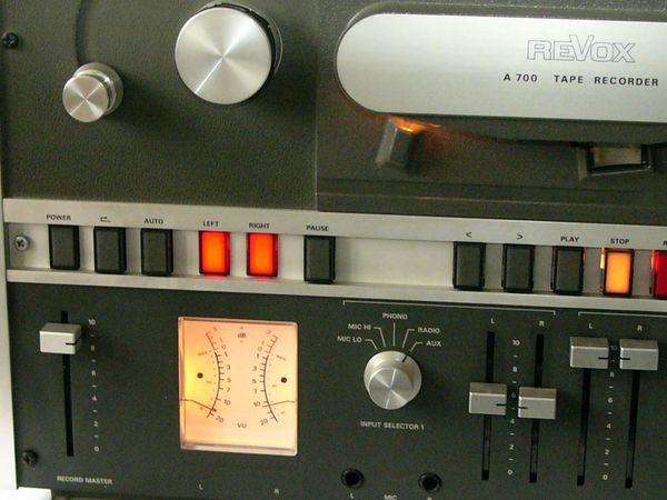 ReVox A700 Tonbandmaschine revidiert mit
