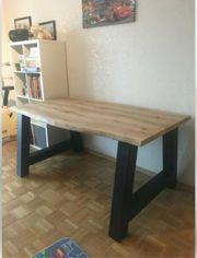 Eiche Tisch Arbeitsplatte Schreibtisch Massiv