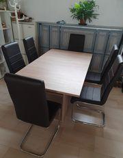 Esszimmertisch Holz mit 6 Stühlen