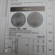 D-Mark 2 Pfennig 1966 Kupfer