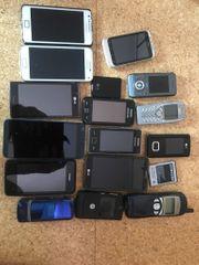 15 Handys Smartphones verschiedene Marken