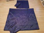 Satin Bettwäsche dunkelblau 135x200 4-teilig