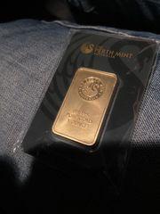 1oz Original Goldbarren mit Rechnung