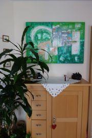 Acrylbild in grün 0 70
