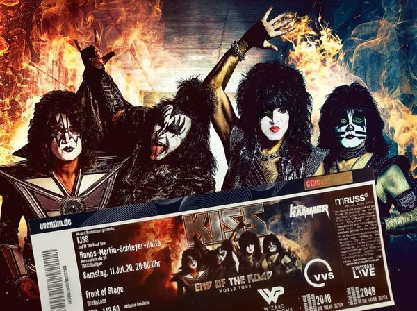 KISS Ticket Front of Stage