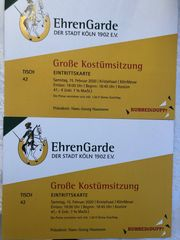 2x Ticket Ehrengarde KÖLN Große